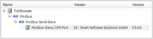 add Modbus Slave COM Port CODESYS