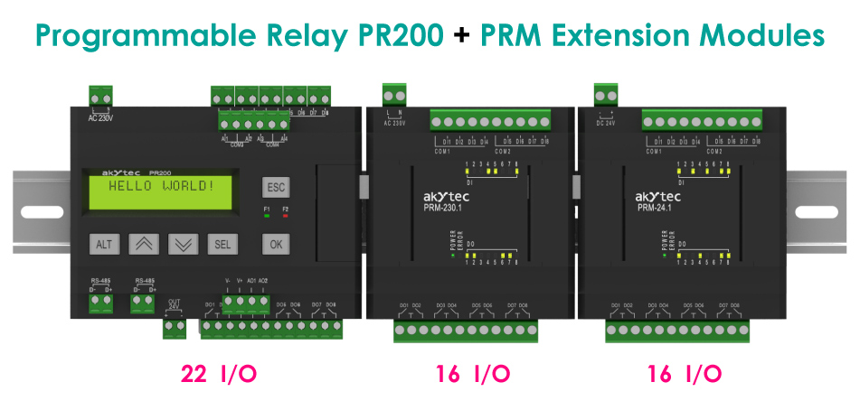 Compact mini PLC and I/O Extension Modules
